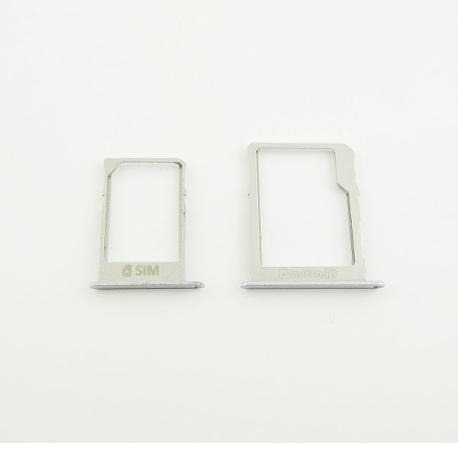 Bandejas Tarjeta SIM y SD Original para Samsung A3 A300, A5 A500 y A7 A700 - Plata