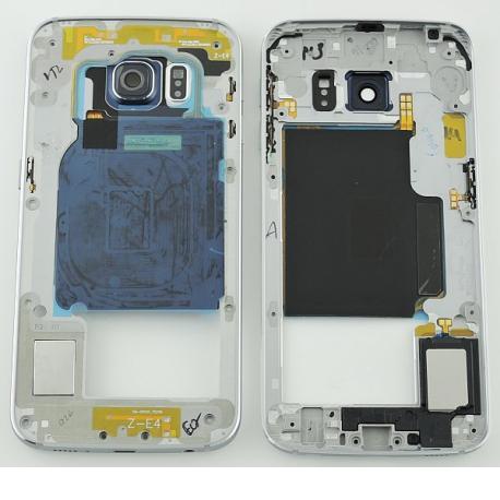 Carcasa Central para Samsung Galaxy S6 Edge SM-G925 - Negra