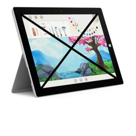 Repuesto de Tablet Completa para Reparar - Microsoft Surface 3 1645 Tablet 64GB - Plata