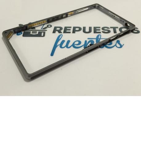 Carcasa Marco Lateral Original para Sony Xperia Z1 C6902 L39H - Negro / Desmontaje