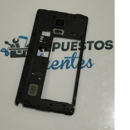Carcasa Intermedia con Lente para Samsung Galaxy Note 4 Edge N915F N915 - Negra