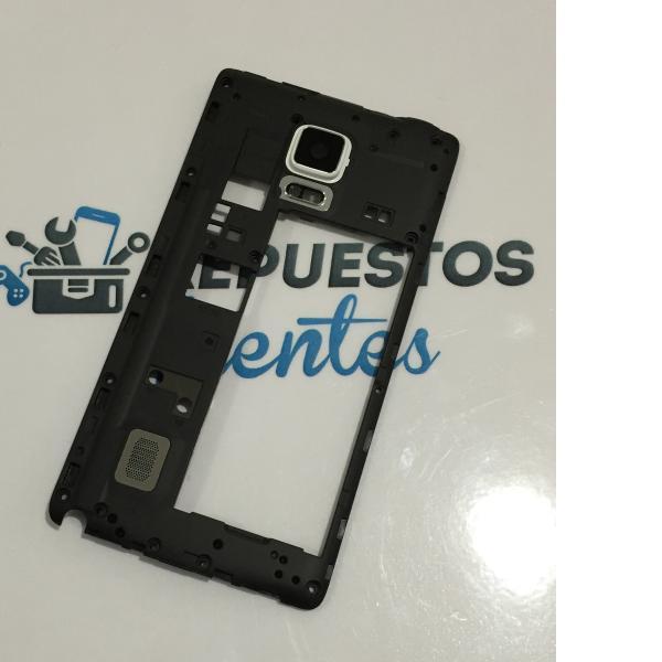 Carcasa Intermedia con Lente para Samsung Galaxy Note 4 Edge N915F N915 - Blanca