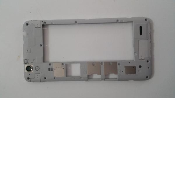 Carcasa Intermedia con Lente para Huawei Ascend G630 Blanca - Recuperada