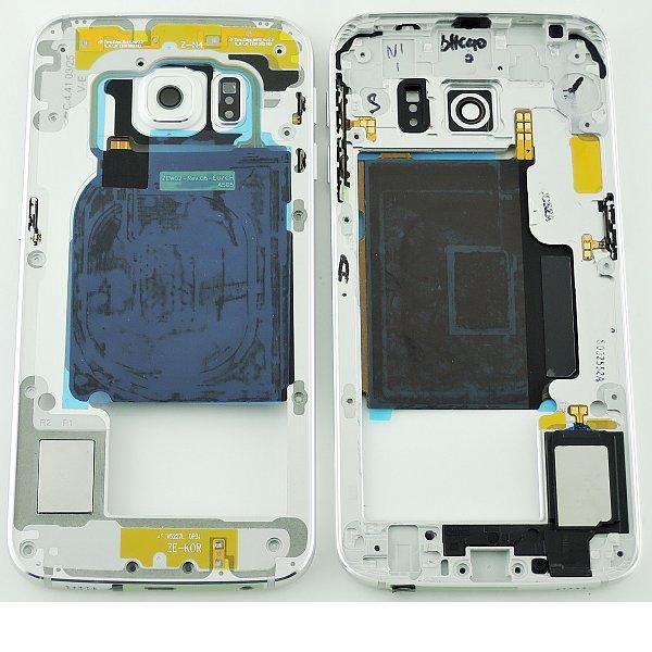 Carcasa Central para Samsung Galaxy S6 Edge SM-G925 - Blanco