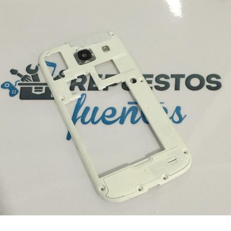 Carcasa Intermedia con Lente para Samsung Galaxy Core i8262 - Blanca / Recuperada