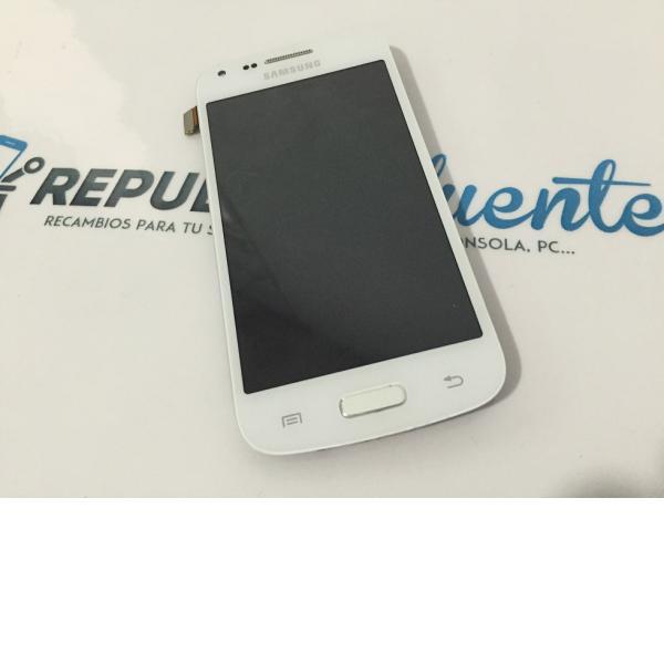 Pantalla Lcd + Tactil Con Pre-Marco Original Samsung Galaxy Core Plus G350 blanca - Recuperado