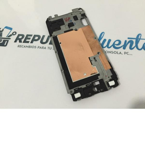 Marco Metalico Frontal Original Samsung Galaxy S5 Mini SM-G800F - Recuperada