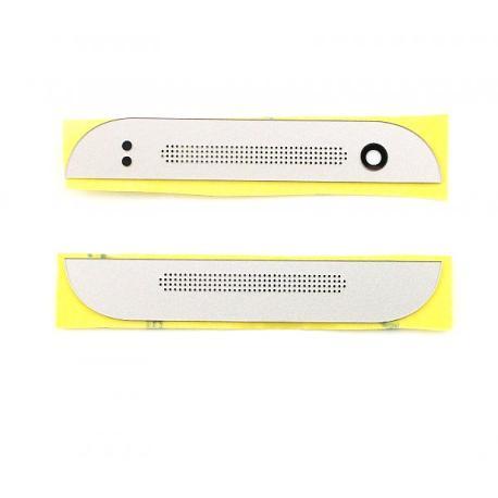 Juego de Embellecedores Superior e Inferior para HTC One M8 Mini 2 - Plata