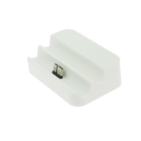 Base Dock Micro USB para Samsung Note 3 / S5 - Blanco