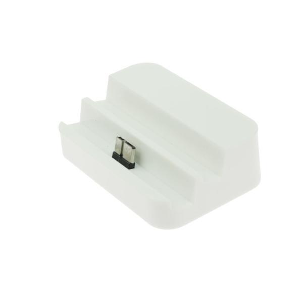 Base Dock Micro USB para Samsung Note 3 / S5 - Blanco