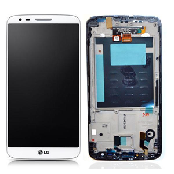 Pantalla LCD Display + Tactil con Marco Original para LG Optimus G2 D802 - Blanca