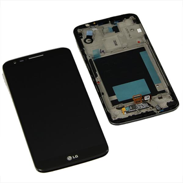 Pantalla LCD Display + Tactil con Marco para LG Optimus G2 D802 - Negra