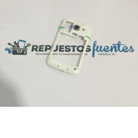 Carcasa Intermedia con Lente para Samsung Galaxy Ace 3, S7270, S7275R - Blanca