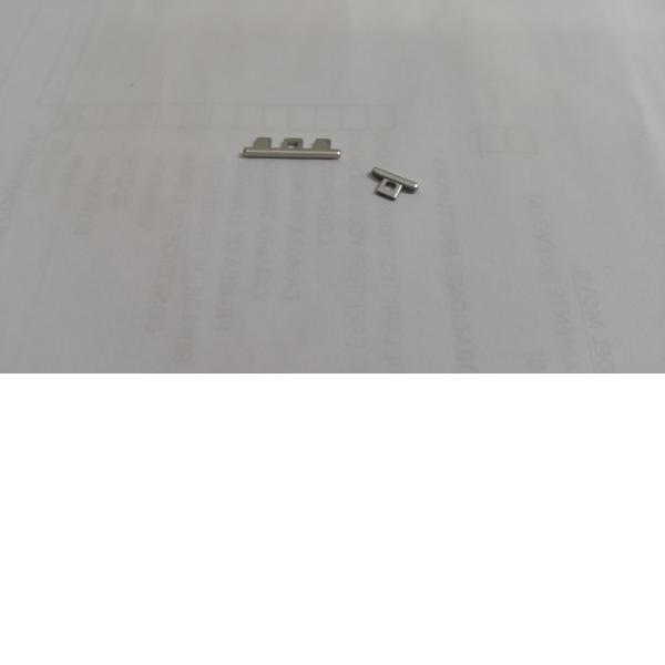 Botones de encendico y Volummen para Motorola X2 Plata - Recuperada