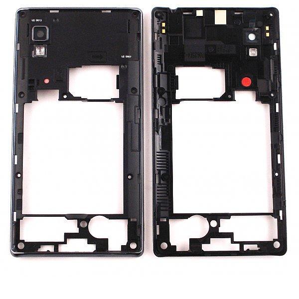 Carcasa Intermedia Con Lente de Camara Original para LG Optimus L9 Optimus L9 P760 - Negra