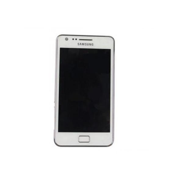 Pantalla completa lcd + tactil con marco original Samsung i9100 Galaxy S2 Blanca - Desmontaje