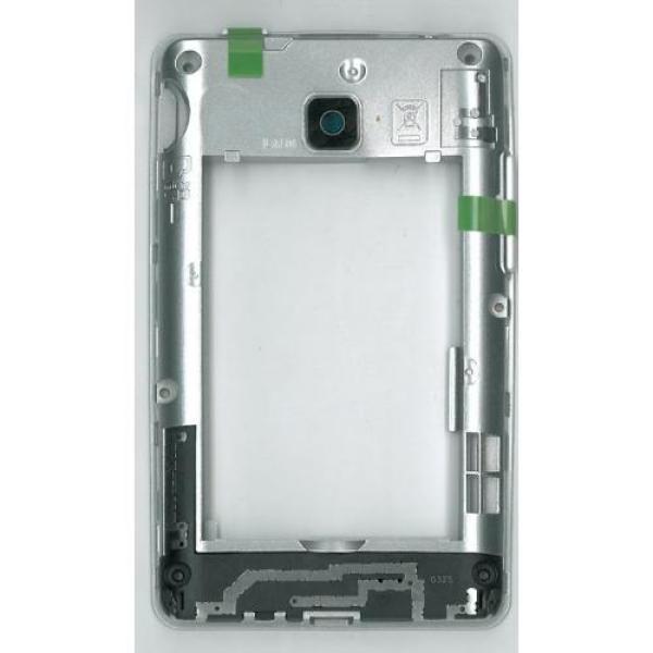 Carcasa Intermedia con Lente Original para LG L3 II E430 - Blanca