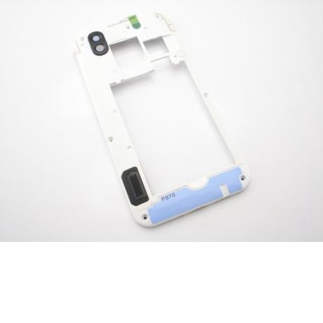 Carcasa Intermedia con Lente Original para LG P970 - Blanco