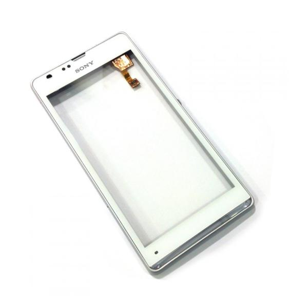 Pantalla Tactil Touch Con Marco Frontal Sony Xperia SP M35H Plata