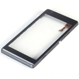 Pantalla Tactil Touch Con Marco Frontal Original para Sony Xperia SP M35H Negra