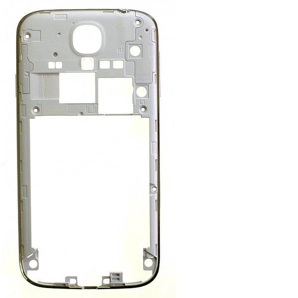 Carcasa Intermedia con Botones de Encendido y Volumen para Samsung Galaxy S4 i9505 - Blanco