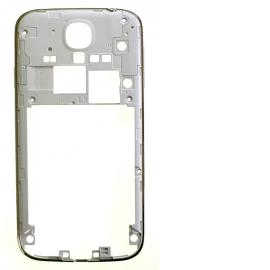 Carcasa Intermedia con Botones de Encendido y Volumen para Samsung Galaxy S4 i9505, i9506 - Blanco