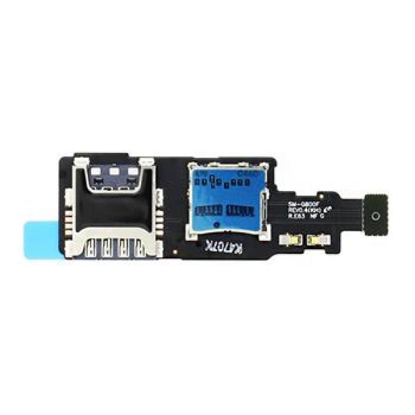 Flex de Lector Tarjeta SIM y Micro SD Original para Samsung G800 Galaxy S5mini