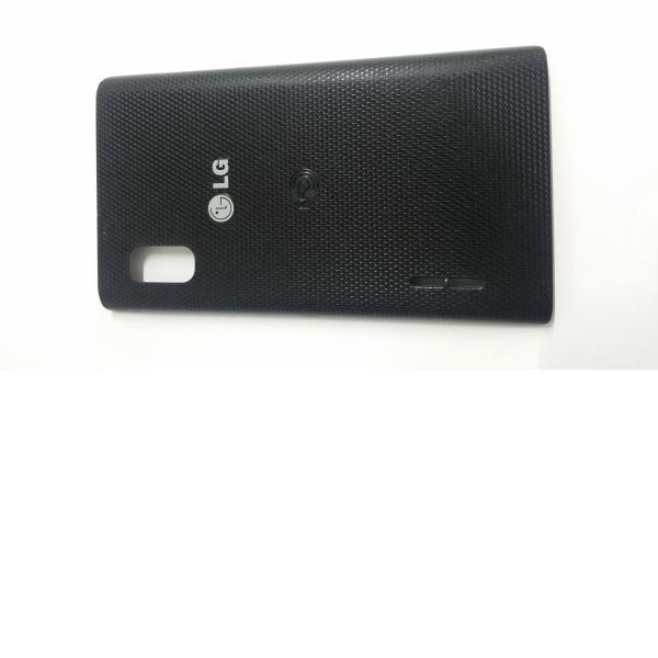 Carcasa trasera de la bateria LG Optimus L5 negra - Recuperada