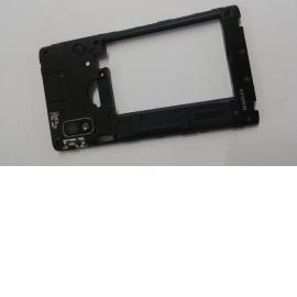 Carcasa Intermedia con lente LG Optimus L5 - Negra
