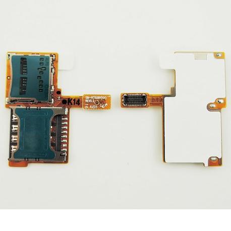 Lector de Tarjeta SIM y SD Original para Samsung Galaxy Note 3 Neo N7505