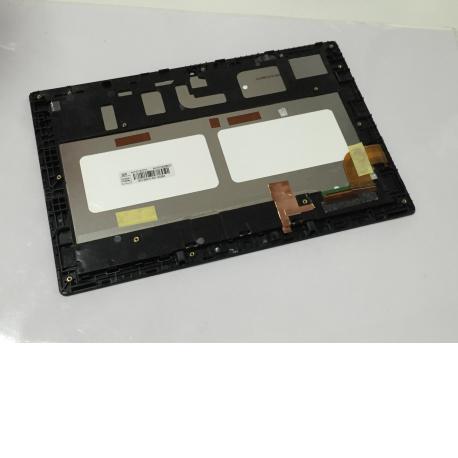 Pantalla LCD Display + Tactil con Marco Original para Tablet BQ Tesla W8 Negra - Recuperada
