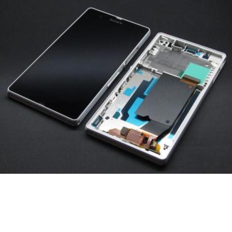 Pantalla LCD Display + Tactil con Marco Original para Sony Xperia Z C6603, C6602 L36H - Blanca / Desmontaje