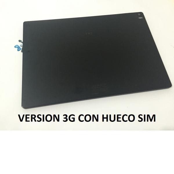 Tapa Trasera Original Tablet Bq Aquaris E10 VERSION 3G Negra - Recuperada