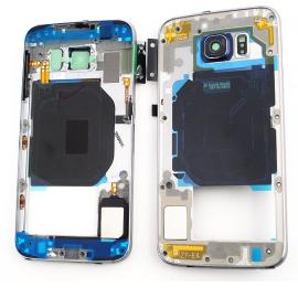 Carcasa Intermedia con Lente para Samsung Galaxy S6 SM-G920 - Negro