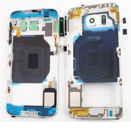 Carcasa Intermedia con Lente para Samsung Galaxy S6 SM-G920 - Blanco
