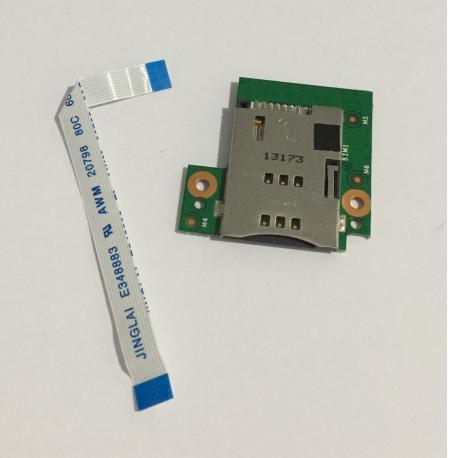 Modulo de Tarjeta SIM y Flex de Conexion para BQ Curie 2 3G Quad Core - Recuperado