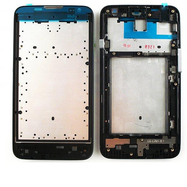Carcasa Marco Frontal para LG Optimus L70 D320 D325 - Negra