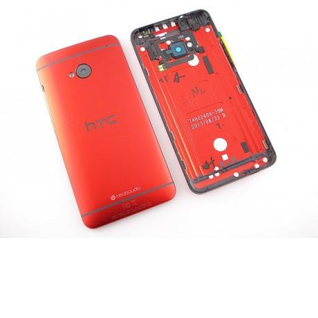 Carcasa Trasera Tapa de Bateria Original HTC One M7 - Roja  LIQUIDACION