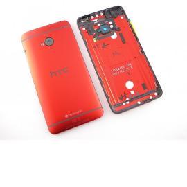 Carcasa Trasera Tapa de Bateria Original HTC One M7 - Roja