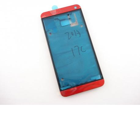 Carcasa Frontal Original para HTC One M7 - Roja
