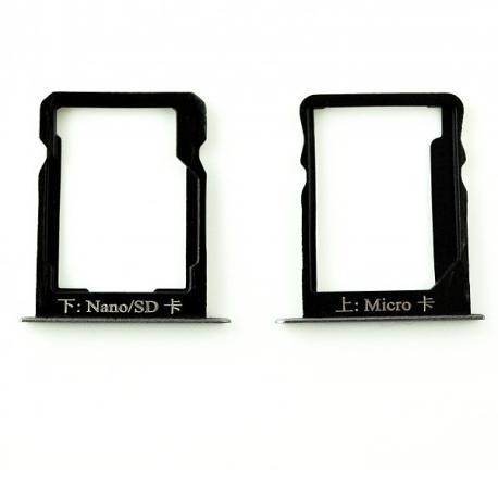 Bandeja de Tarjeta SIM y SD para Huawei Ascend Mate 7 - Negra