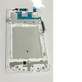 Carcasa Marco Frontal para LG Optimus F6 D505 - Blanca
