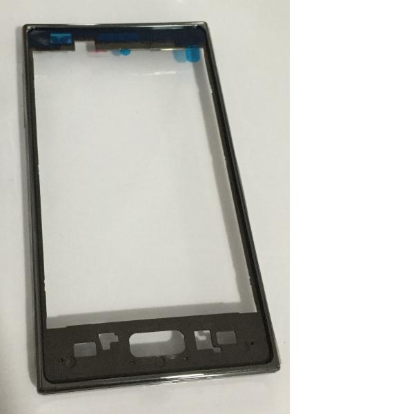 Carcasa Marco Frontal para LG Optimus L7 II P710 - Negra