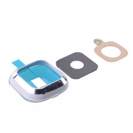 Embellecedor con Lente de Camara para Samsung Galaxy A7 A700F - Blanco