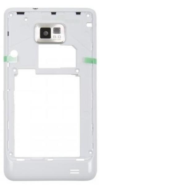 Carcasa Intermedia con Lente de Camara Original para Samsung Galaxy S2 i9100 - Blanca