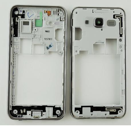 Carcasa Intermedia con Lente de Camara y Botones Laterales Original para Samsung Galaxy J5 SM-J500F - Oro / Blanco