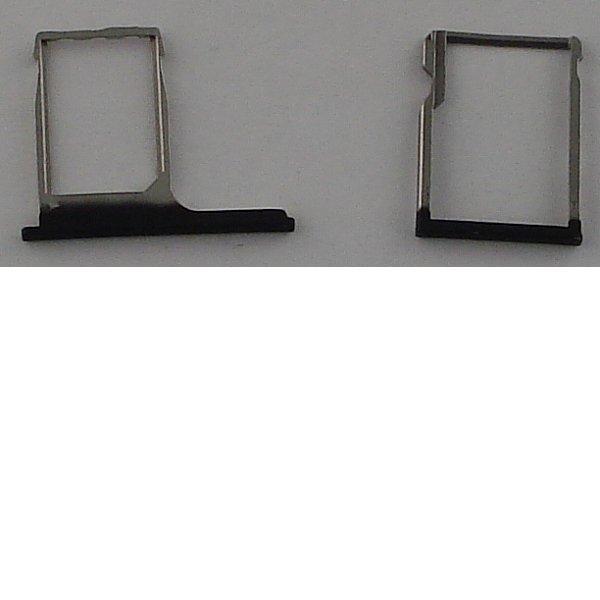 Bandejas de Tarjeta SIM y MicroSD para HTC One M8 - Negra