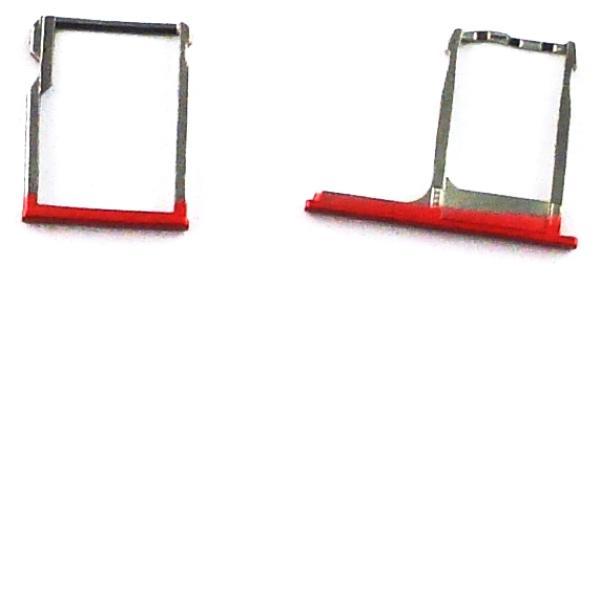 Bandejas de Tarjeta SIM y Micro SD para HTC One M8 - Roja