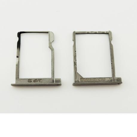 Bandejas de Tarjeta SIM y SD para Huawei P6 - Negra