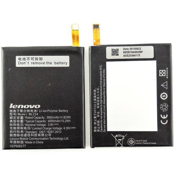 Bateria BL234 Original Lenovo P70, VIBE P1m, A5000 DUAL de 4000mAh